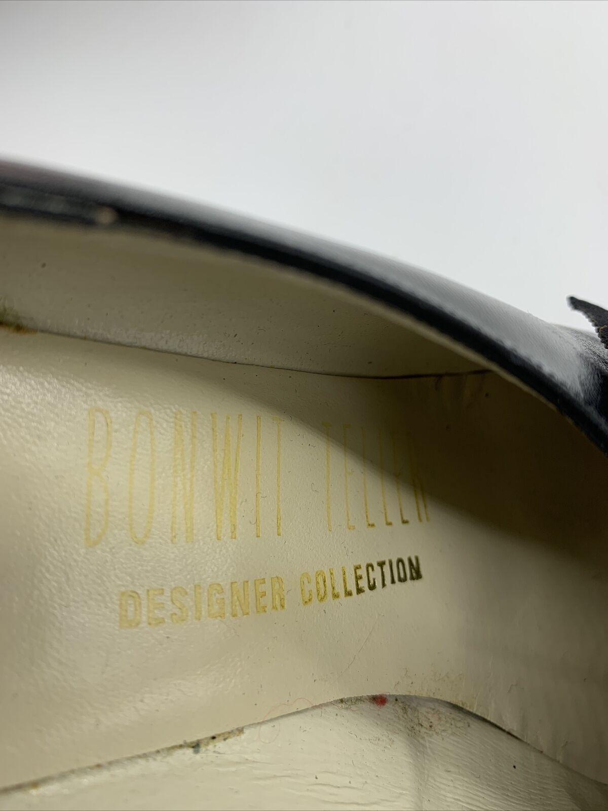 Antique Edwardian Bonwit Teller Black Leather Sho… - image 6