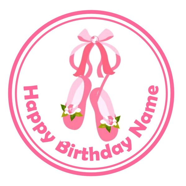 d959f37ca5fc 24 icing cake decorations toppers personalised pumps shoes Ballerina ballet
