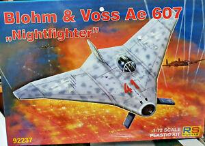 Blohm-amp-Voss-Ae-607-Nightfighter-Caccia-Sperim-RS-Models-Kit-1-72-92237-Nuovo