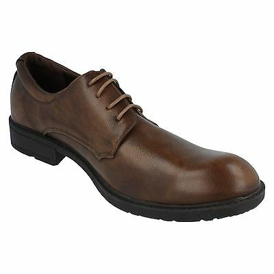 SALE Herren A2128 Synthetisch zum Schnüren Formeller Schuh schwarz/braun von