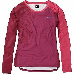 Madison Flux Enduro Women's Long Sleeve Jersey Malbec Red Classy Burgundy Size14