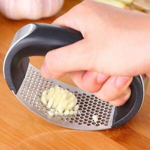 Edelstahl-manuelle-Knoblauchpresse-Crusher-Squeezer-Kitchen