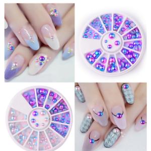 Flat Pearl Mermaid 3d Nail Art Diamonds Manicure Sticker Decor 345