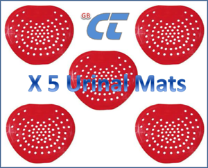 Urinal Screen Mats 8 Inch Soft Plastic with Pine Fragrance Red GB-CT