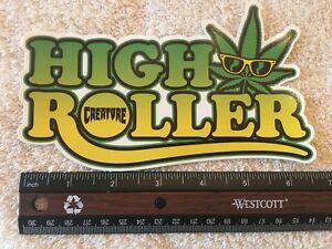 Creature-Logo-Skateboards-Sticker-Authentic-amp-Original-HIGH-ROLLER-Very-Cool