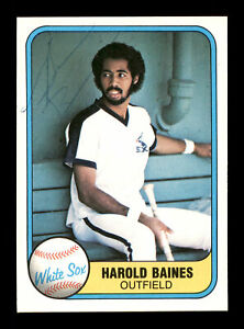 Harold Baines Autographed Signed 1981 Fleer Rookie Card #346 White Sox 166502