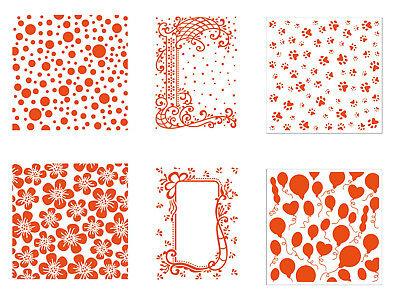 Prägeschablone Hintergrund quadratisch oder C6 Embossing Folder Marianne Design