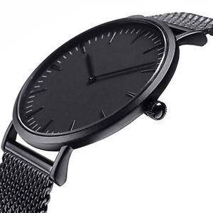 Herren-Uhr-Kristall-Sport-Edelstahl-Armbanduhr-Analog-Quarz-Wrist-Watch-L-P