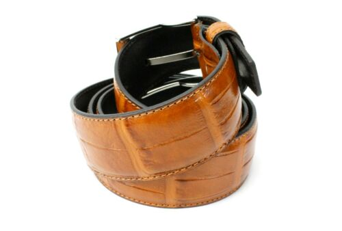 IVAN TROY Brown Handmade Italian Leather Belt// Mens leather belt//Made in Italy