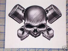 Piston Cross Skull Window Decal Decals Trailer Sticker Wall Skulls Black Ops
