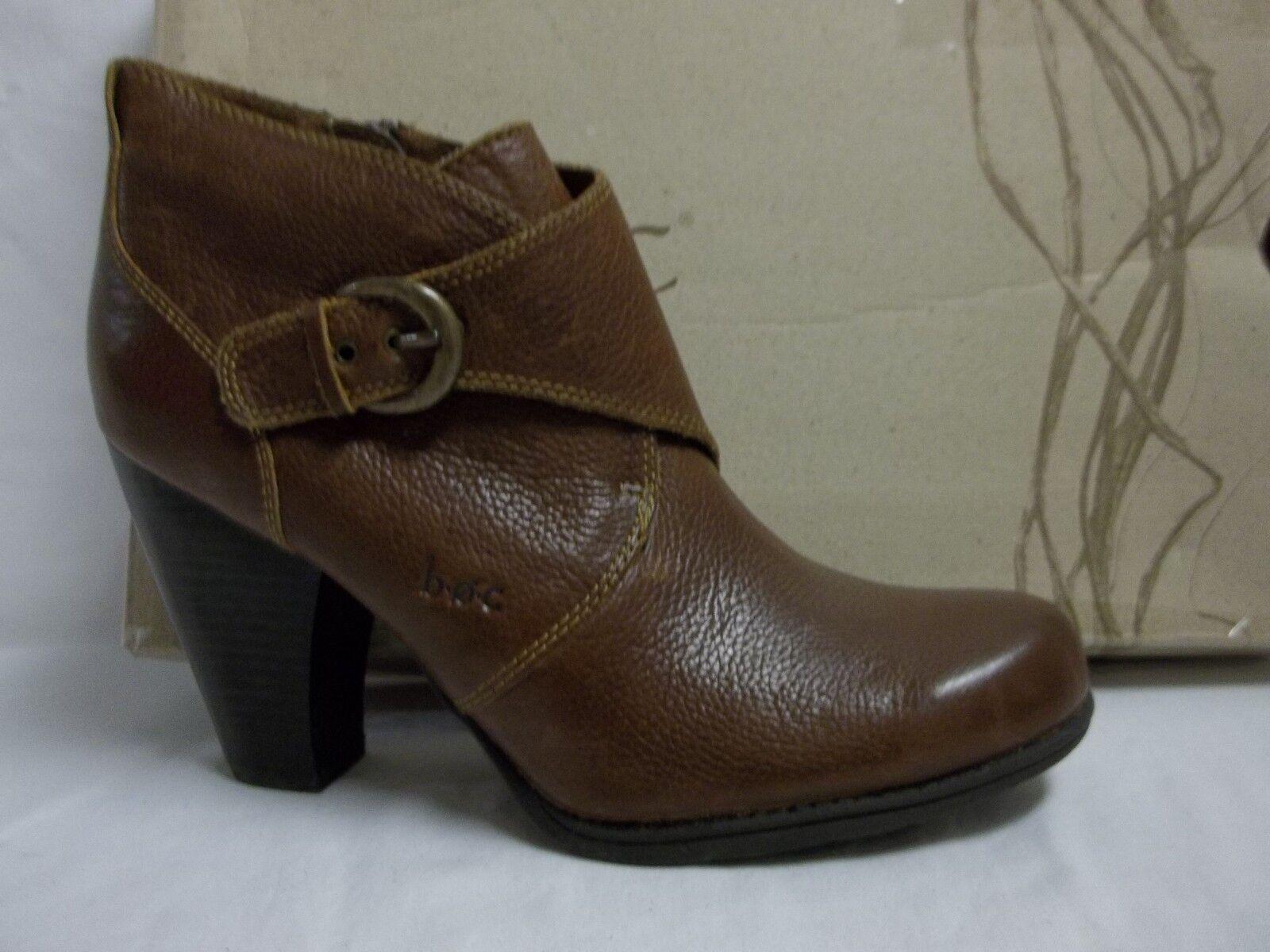 Born Größe 9.5 M Remmel Braun Ankle Leder Ankle Braun Stiefel New Damenschuhe Schuhes 68c587
