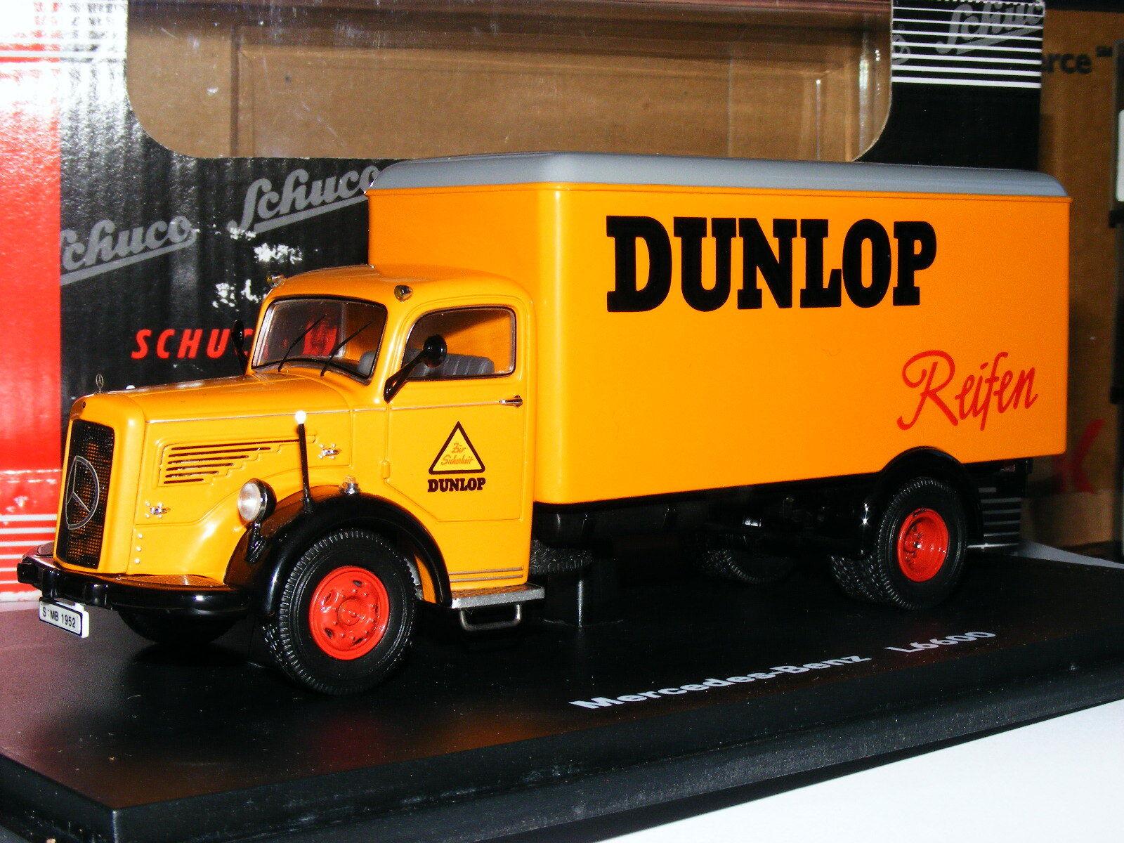 Schuco 03021 Mercedes-Benz L6600 Van Dunlop 1 43