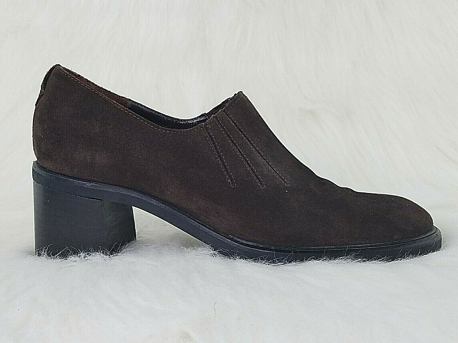 AQUATALIA By Marvin K Womens Brown Suede Leather Slip On Booties Boots Size 7 M