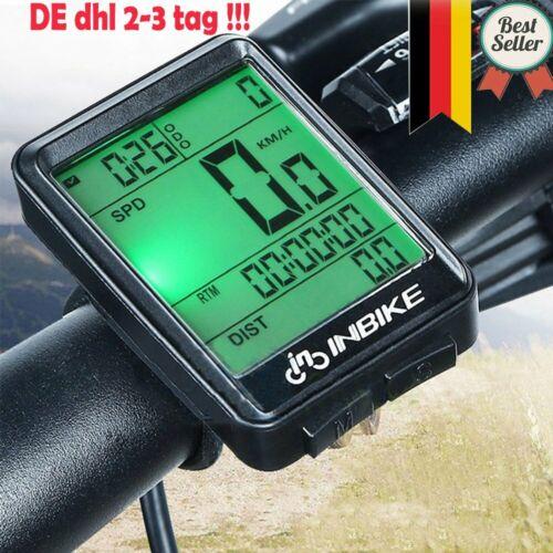 LCD  Fahrradcomputer Tachometer Radfahren Kilometerzähler Kabellos DHL NEU