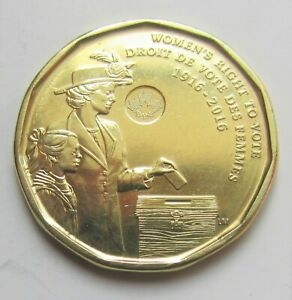 2016-CANADA-WOMEN-039-S-RIGHT-TO-VOTE-COMMEMORATIVE-LOONIE-combined-shipping