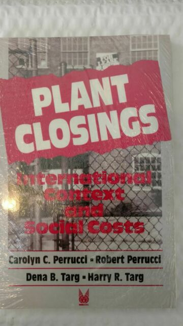 Plant Closings: International Context and Social Costs (Social Institutions and