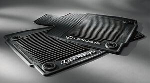 genuine lexus 2014 up is250 all wheel drive all weather floor mats black. Black Bedroom Furniture Sets. Home Design Ideas