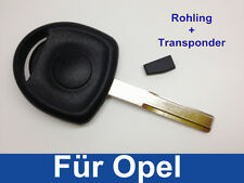 Schlüssel Rohling Gehäuse + Transponder für OPEL ASTRA VECTRA OMEGA CORSA COMBO