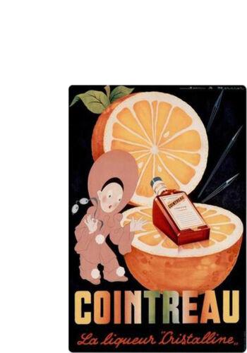 Contreau-Vintage Poster-Jumbo Aimant Réfrigérateur # 2