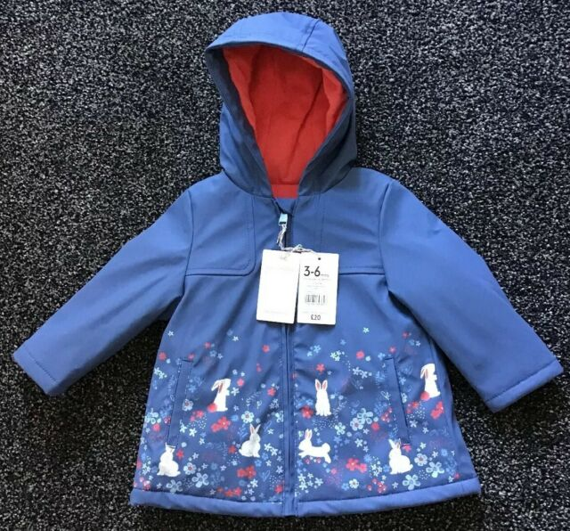 b3be5f618 Mothercare Baby Girls Rubber Coat Jacket Spring Bunny Rabbit 3-6 Months  Easter