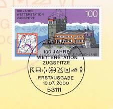 BRD 2000: Wetterstation Zugspitze Nr. 2127 mit Bonner Sonderstempel! 1A! 1511