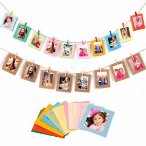 10X4-Paper-Photo-Frame-DIY-Wall-Art-Picture-Hanging-Album-With-Rope-Line-Clips