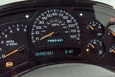 LIGHT BLUE LED 2005 Chevy Silverado GMС Sierra REMAN Instrument Panel Cluster