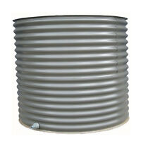 1500lt Colorbond Aquaplate Round Steel Squat Rain Water Tank - Victoria Delivery