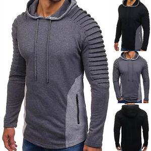 Mens-Hoodie-3D-T-Shirt-Hooded-Tee-Tops-Slim-Fit-Warm-Sweatshirt-Jumper-Sweater