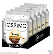 Tassimo Jacobs Cappuccino Coffee 5 Pack 80 T-Disc 40 Servings