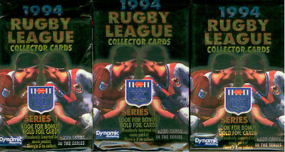 4-Sealed Pack Unit 1 1994 Dynamic Rugby League Trading Cards Series