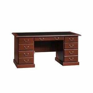 Sensational Details About Sauder Executive Desk W Drawer Classic Cherry Finish Home Office Furniture New Home Interior And Landscaping Spoatsignezvosmurscom