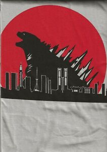 GODZILLA-RED-SUN-KAIJU-T-SHIRT-SIZE-XXL-100-PRE-SHRUNK-COTTON