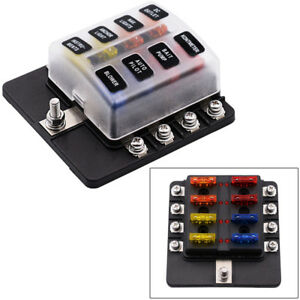 8way car boat fuse block box 30a adapter holder multi function blade rh ebay co uk