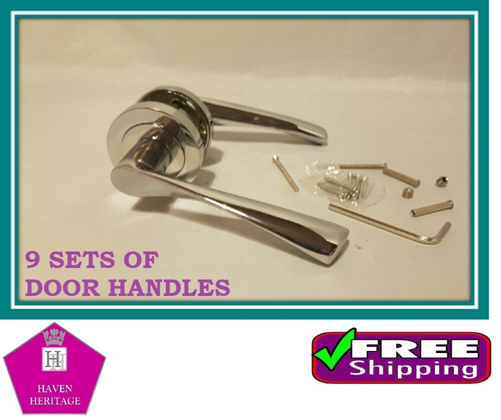 X9 ASTRID Twisted INTERIOR Door Handle SETS Lever on pink CHROME D12