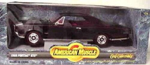 1966 Pontiac GTO noir 1 18 ertl american muscle 7292