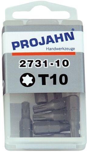 10 Stück 1//4 Bit Projahn Torx-BIT 10-25 mm lang TX 10