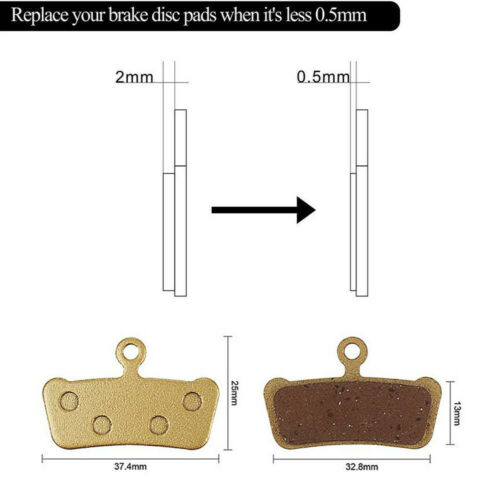 Metal Sintered Disc Brake Pads for SRAM Guide RSC//RS//R Avid XO E7 E9 Trail-2pair