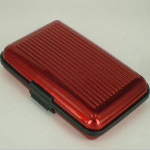 Business ID Credit Card Wallet Holder Aluminum Metal Pocket Box Portable