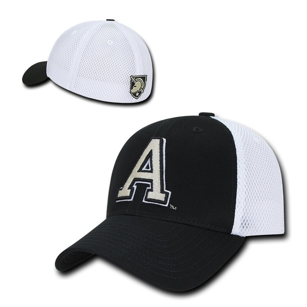 NCAA United States Military Baseball Academy Structured Mesh Flex Baseball Military Caps Hats 5c066c