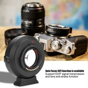 VILTROX EF-FX2 Auto Focus 0.71x Speed Booster Adapter for Canon EF Lens to Fujifilm X-Mount Camera X-T3 E3 T2