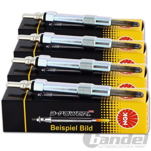 4x NGK Bougie de Préchauffage D-POWER No 16 y-925j 4 Cylindre Moteurs Complet-Set