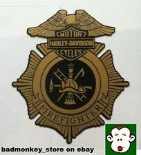 HARLEY DAVIDSON MOTORCYCLES FIREFIGHTER Sticker Decal Motorcycle Fire Fighter