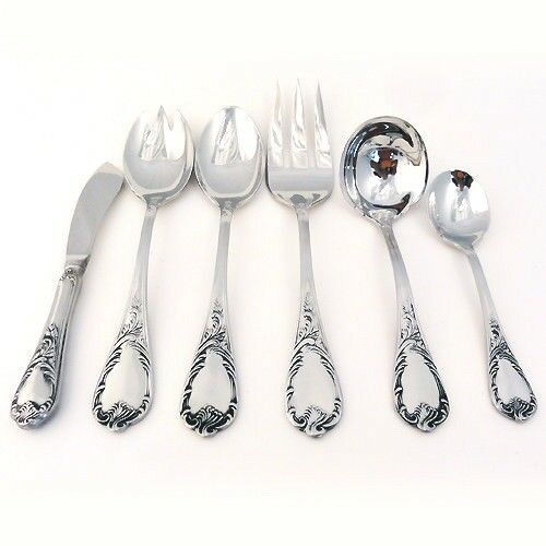 OLD VIENNA by Towle Stainless 6 Piece Serving Set NEW NEVER USED made Germany