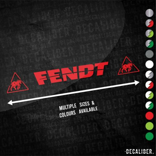 Many Sizes /& Colours Tractor Favorit Fendt with Badge Both Sides Sticker Decal