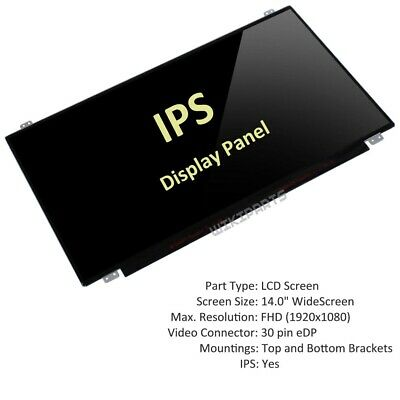 AJParts New Compatible IPS 14 Lenovo ThinkPad L460 Laptop LED LCD Full HD Screen Display Backlit Panel Matte
