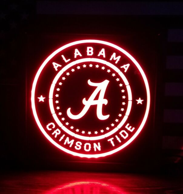 Alabama Crimson Tide Metal Sign I Love