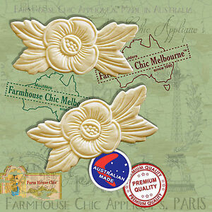 2-x-Shabby-Chic-French-Furniture-Appliques-Flowers-Vintage-Decor-Art-Moldings