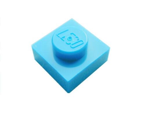 dark azure Lego 50 Stück dunkel azurblaue Platten 1x1 Neu Platte Basics 3024