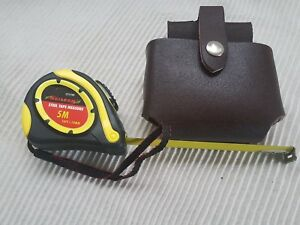 Brown-Pure-Leather-Tape-Holder-4-Scaffolding-Tools-Belt-amp-Auto-Tape-Measure-5m